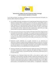 Declaración Grupo IDEA sobre las elecciones regionales en Venezuela