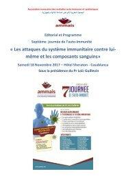 Septième journée de l'auto-immunité le 18 novembre 2017 à Casablanca