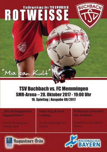 Stadionzeitung TSV Buchbach -FC Memmingen