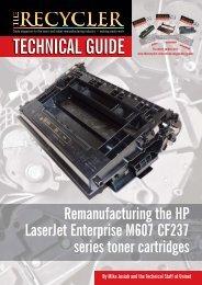 Remanufacturing the HP LaserJet Enterprise M607