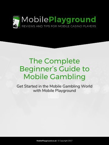 The Complete Beginner's Guide to Mobile Gambling