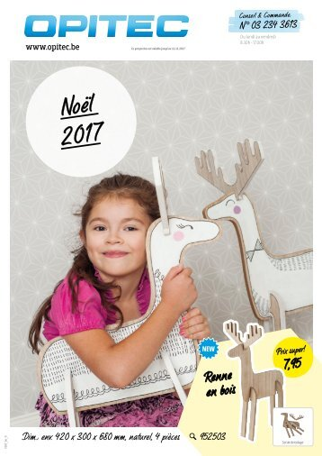OPITEC Catalogue de Noël Belgique-Français 2017 (T007)