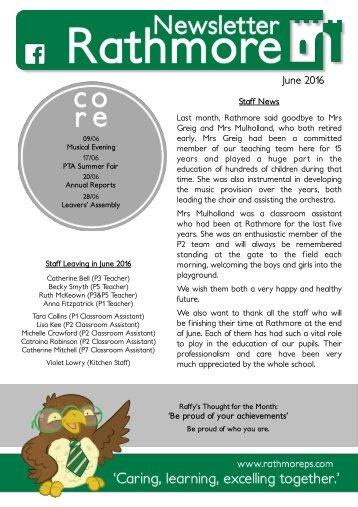 June Newsletter 2016