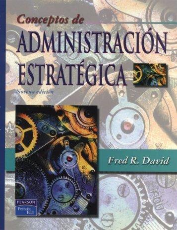 ESTRATEGICA- FRED DAVID