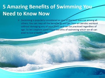 5 Amazing Benefits of Swimming You Need to Know Now