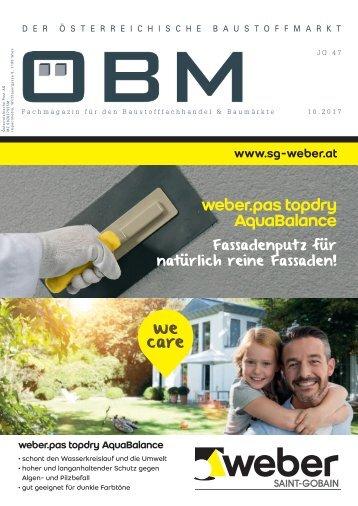 2017-10 ÖBM Der Österreichische Fachmarkt - weber.pas topdry AquaBalance
