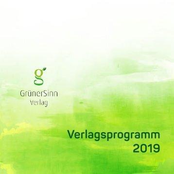 Verlagsprogramm 2018 - GrünerSinn-Verlag