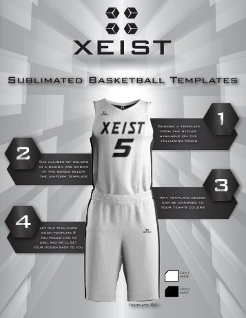 Xeist Basketball 3D templates multipage