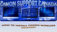 how to install canon wireless Printer