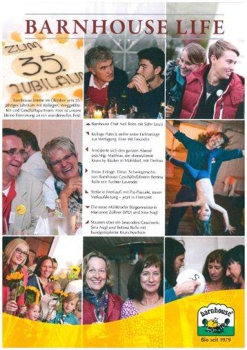 Barnhouse Life 35 Jahr Feier 2014
