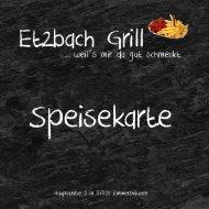 Etzbach Grill Speisekarte
