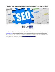 Get The Best Search Enigne Optimization Services from Blue 16 Media