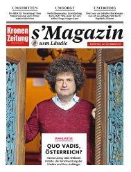 s'Magazin usm Ländle, 22. Oktober 2017