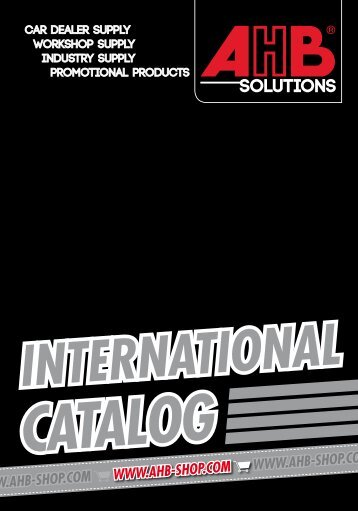 AHB International Catalog 2018