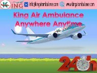 King Air Ambulance Service in Bhopal with Doctor Facility