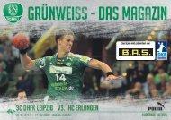 Grünweiss - das Spieltagsmagazin des SC DHfK Leipzig 6-17-18 vs HC Erlangen