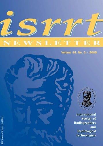 isrrt Newsletter Volume 44. No.2 - 2008