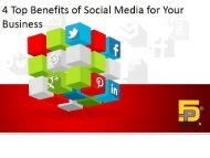 4 Top Benefits of Social Media for Your Business