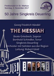 Messiah Programmheft