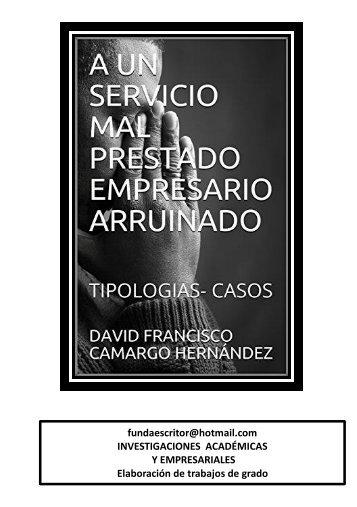 UN MAL SERVICIO ARRUINA LAS EMPRESAS