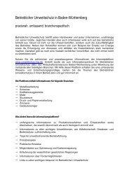 Betrieblicher Umweltschutz in Baden-Württemberg