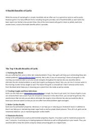 4 Health Benefits of Garlic