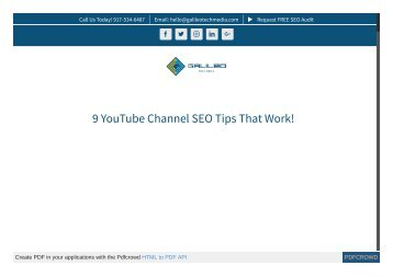 9 YouTube Channel SEO Tips That Work