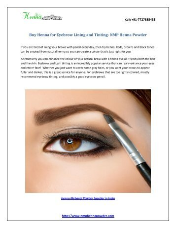 Buy Henna for Eyebrow Lining and Tinting- NMP Henna Powder