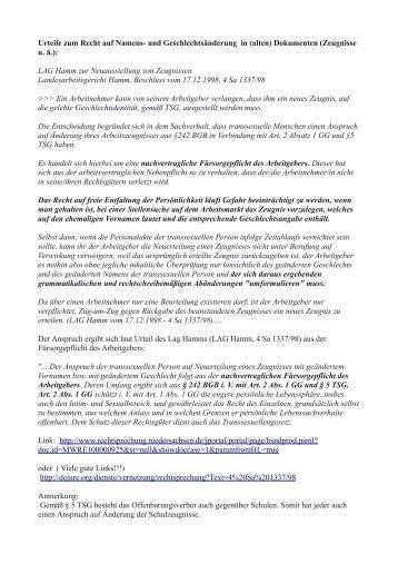 12-urteilssammlung-zur-umschreibung-von-zeugnissen