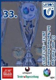 33. UPCtirol Cup 2017, int. Nachwuchsturnier der UNION Innsbruck