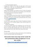10 Tips on How to Hire the Most Professional Online Paraphraser - Page 4