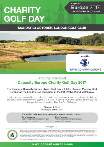 Capacity Europe 2017 Charity Golf Day