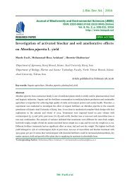 Investigation of activated biochar and soil ameliorative effects on Menthea piperita L. yield
