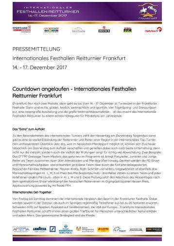 2017-10-11 Countdown angelaufen - Internationales Festhallen Reitturnier Frankfurt