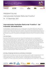 2017-10-04 Internationales Festhallen Reitturnier Frankfurt - der krönende Jahresabschluss