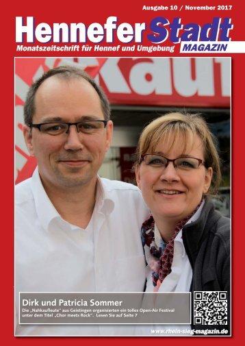 Hennefer Stadtmagazin, Ausgabe 10 / November 2017