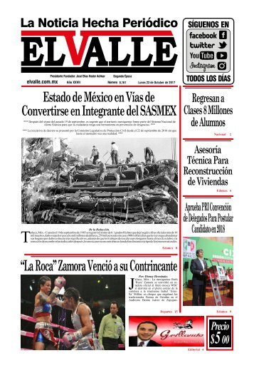 Edición del día Lunes 23 de Octubre