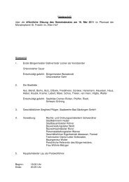 Niederschrift über die öffentliche Sitzung des Gemeinderates am 16 ...