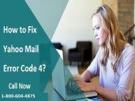1-800-604-4875 Fix Yahoo Mail Error Code 4