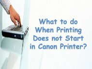 What to do When Printing Does not Start in Canon Printer?