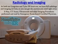 Radiology and Imaging Services at Hospitality Health Emergency Room