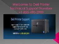 Dell Printer help number +1-855-490-2999
