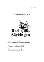 """""""Trompeterecho"""" Nr. 4 - Stadt Bad Säckingen"""