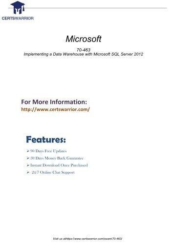70-463 Practice Software