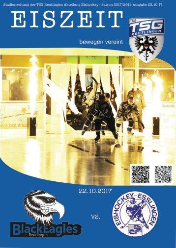 Eiszeit Stadionzeitung TSG Black Eagles vs Esslingen 22192017x
