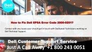 How to Fix Dell EPSA Error Code 2000-0251