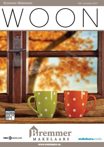 Bremmer Makelaars WOON magazine, november 2017