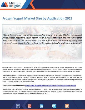 Frozen Yogurt Market Size by Application 2021