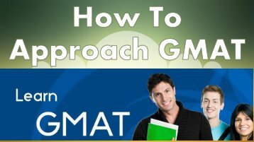 How To Approach GMAT
