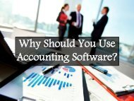 Why Should You Use Accounting Software